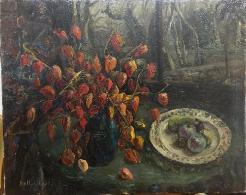 Nature morte aux Physalis par Nelly Stulz